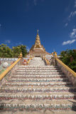 Gold pagoda in Wat Phra That Pha Son Kaew Temple, Thailand Royalty Free Stock Photo