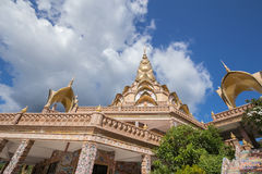 Gold pagoda in Wat Phra That Pha Son Kaew Temple, Thailand Stock Image