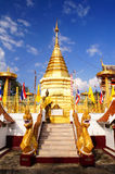Gold pagoda 2. This is a Gold pagoda in Wat Phrathat Doi Kham at Thailand stock images