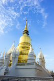 Gold pagoda at Wat Suan Dok in Chiang Mai Royalty Free Stock Photo