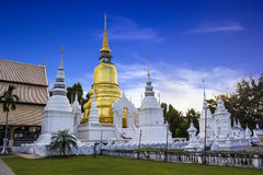 Gold pagoda at Wat Suan Dok in Chiang Mai, Thailan Royalty Free Stock Photos