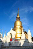 Gold pagoda wat suandok chiangmai thailand Royalty Free Stock Photo