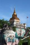 Gold pagodas 01. Pagodas at Wat Pho in Bangkok Royalty Free Stock Photos