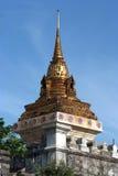 Gold pagodas 2. At Wat Pho in Bangkok Royalty Free Stock Photography