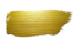 Gold paint brush stroke. stock illustration