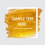 Gold Paint Glittering Textured Art with Frame and Sample Text. Vector Ilustration EPS10 Royalty Free Stock Photo