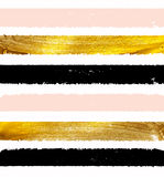 Gold Paint Glittering Textured Art Illustration. Vector. EPS10 stock illustration
