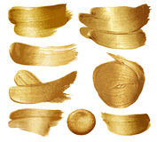 Gold paint set Royalty Free Stock Photography