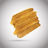 Gold paint strokes Royalty Free Stock Image
