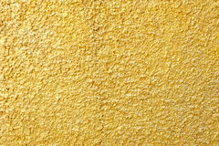 Gold Paint Stucco Wall. Stock Image