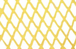 Gold paint wall mesh patterns isolated on white background. Close up Gold paint wall mesh patterns isolated on white background stock photography