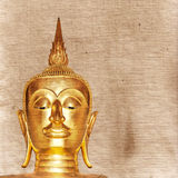 Gold painted Buddha statue Royalty Free Stock Image