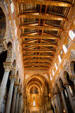 Gold painted ceiling of Monreale Cathedral Stock Photo
