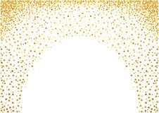Gold Painted Dots Background Stock Images