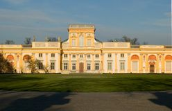 Gold palace 1. Palace of King in Wilanow-Warsaw Stock Photo