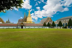 Gold palace in Bangkok Royalty Free Stock Image