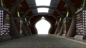Gold Palace Corridor Royalty Free Stock Photo