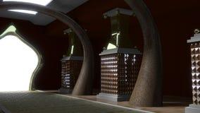 Gold Palace Corridor Angle Shot Stock Images