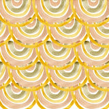 Gold palette watercolor circles background. Stock Images
