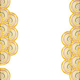 Gold palette watercolor circles background. Royalty Free Stock Image