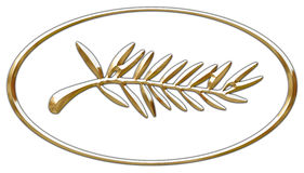 Gold palm cannes prix logo Stock Images