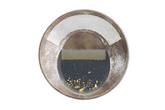 Gold pan with natural placer gold Stock Photography