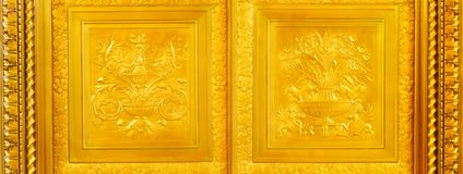 Gold Panels Royalty Free Stock Photo