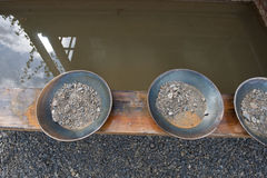 Gold panning Royalty Free Stock Photography