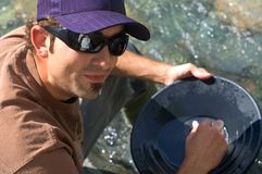 Gold Panning Stock Photography