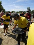Gold panning competition Stock Photo