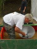 Gold panning Stock Photos