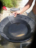 Gold panning Royalty Free Stock Photos