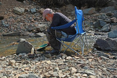 Gold Panning Stock Images