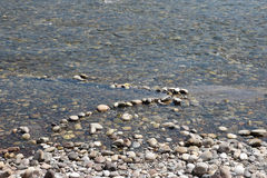 Gold panning in the Ticino River Royalty Free Stock Photos
