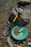 Gold Panning Tools Royalty Free Stock Images