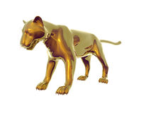 Gold Panther royalty free illustration