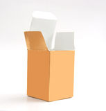 Gold paper box Stock Image