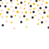 Gold Paper Confetti Royalty Free Stock Images