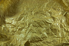 Gold Paper creased Royalty Free Stock Image