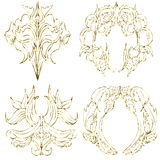 Gold paper decoration Royalty Free Stock Images