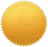 Gold paper diploma or certificate seal isolated