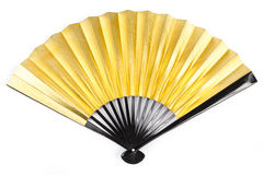 Gold Paper Fan Royalty Free Stock Image