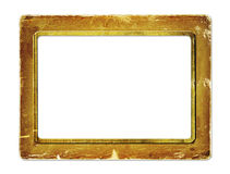 Gold paper frame for portraiture Stock Photos