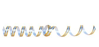 Gold paper horizontal ribbon Stock Images