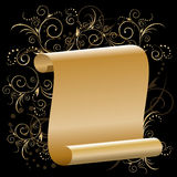 Gold papyrus Royalty Free Stock Image