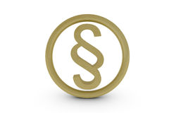 Gold paragraph symbol Stock Photo