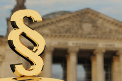 Gold paragraph symbol Stock Photos