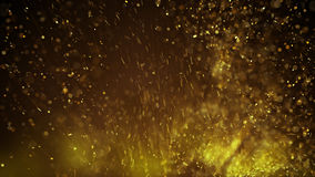 Gold particles abstract background rendered with DOF and motion. Gold particles. Computer generated abstract background rendered with DOF and motion blur Stock Photo