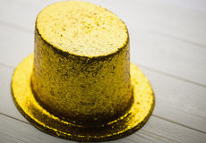 Gold party hat Royalty Free Stock Images