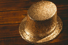 Gold party hat Royalty Free Stock Photography